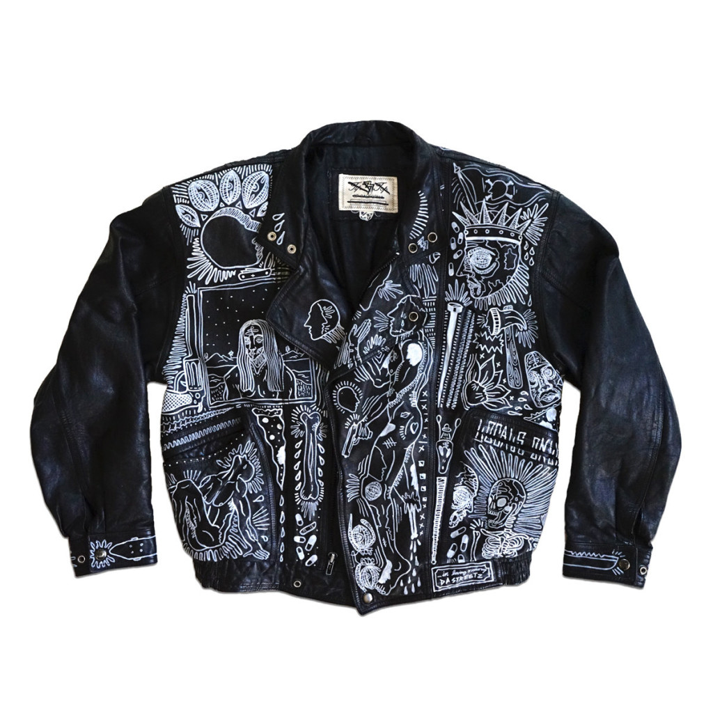 how to paint on leather jacket